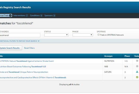 Internet stroke center clinical trial registry